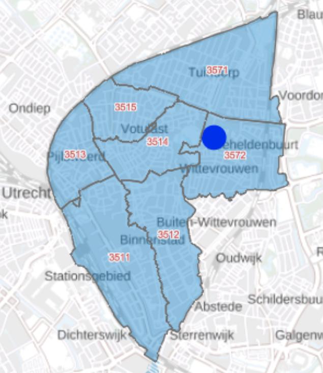 Postcodekaartje Utrechts Archief